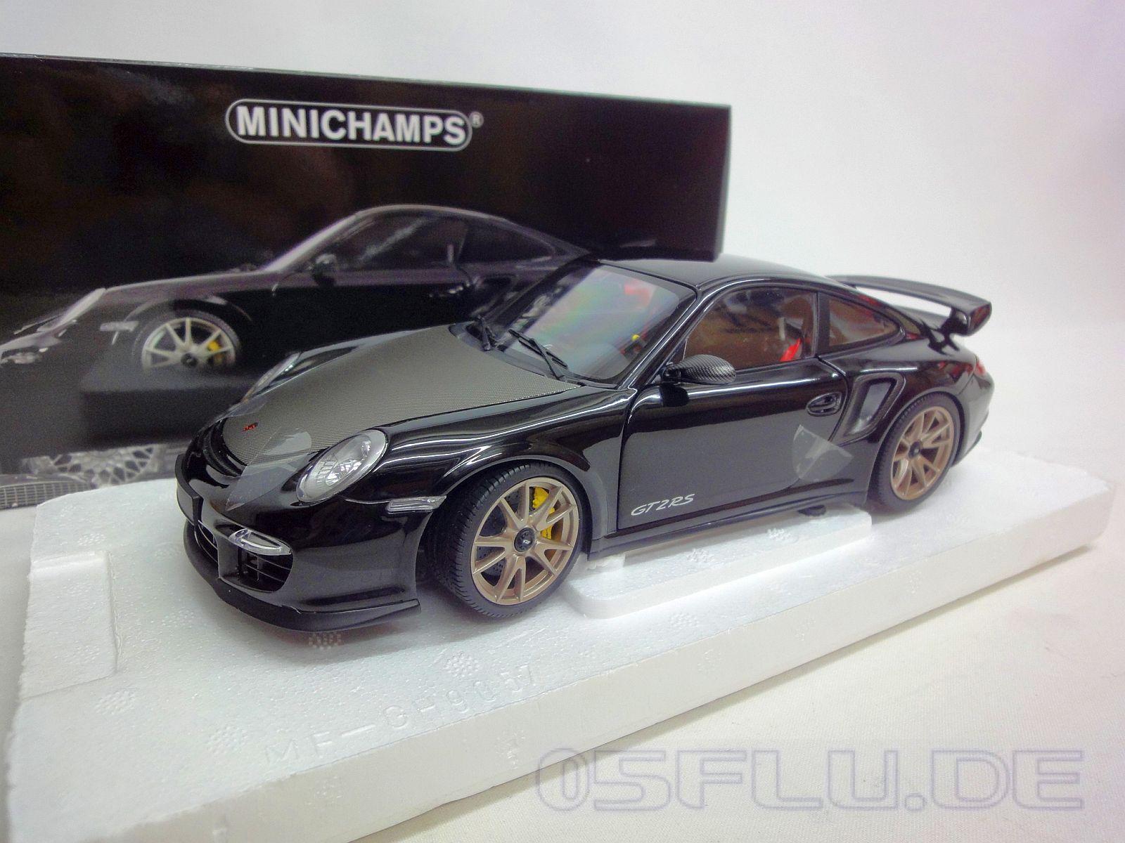 minichamps 1 18 porsche 911 997 ii gt2 rs 2011 black w silver wheels n. Black Bedroom Furniture Sets. Home Design Ideas