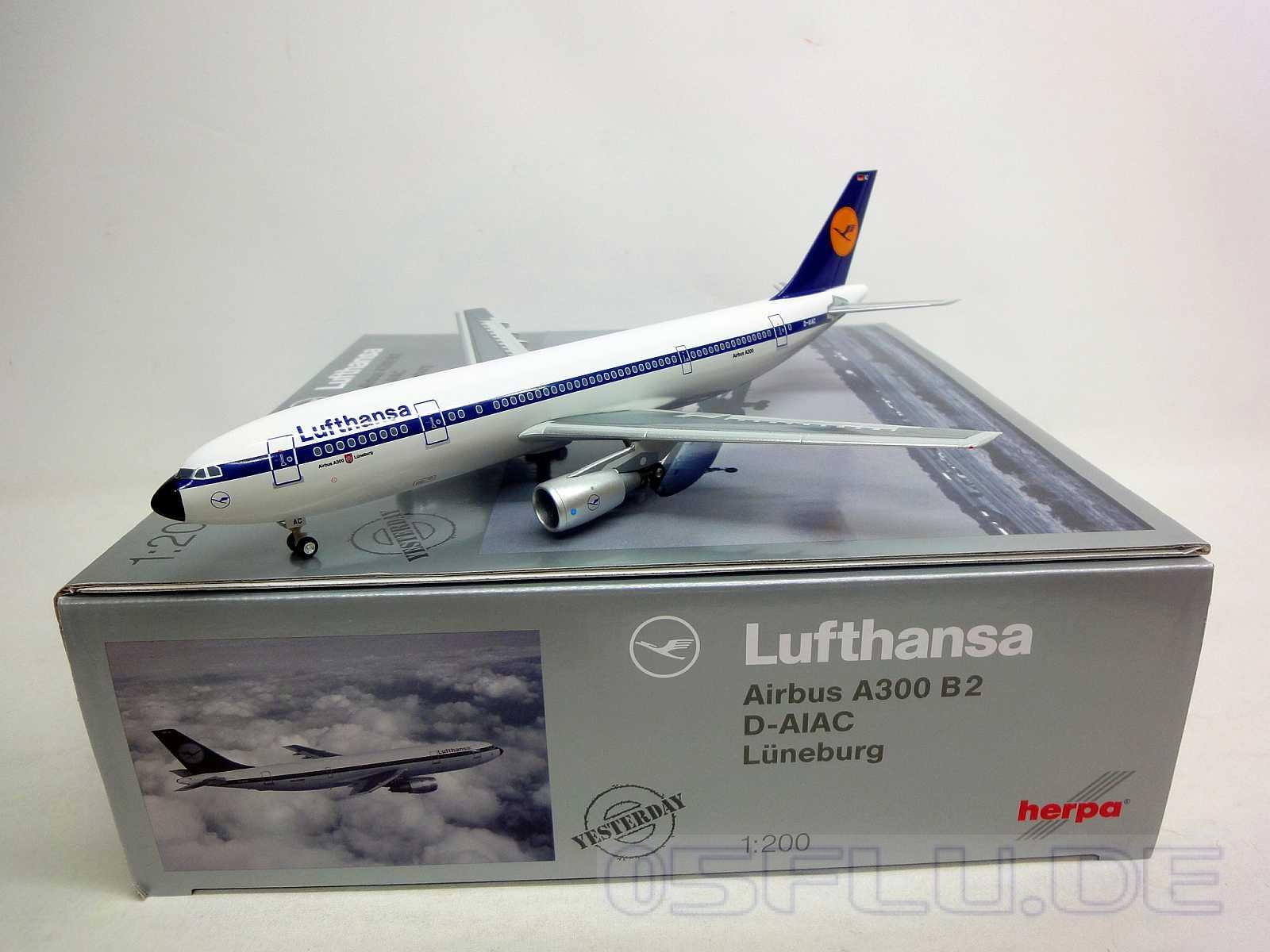 herpa 1 200 556057 lufthansa airbus a300b2 neu ebay. Black Bedroom Furniture Sets. Home Design Ideas