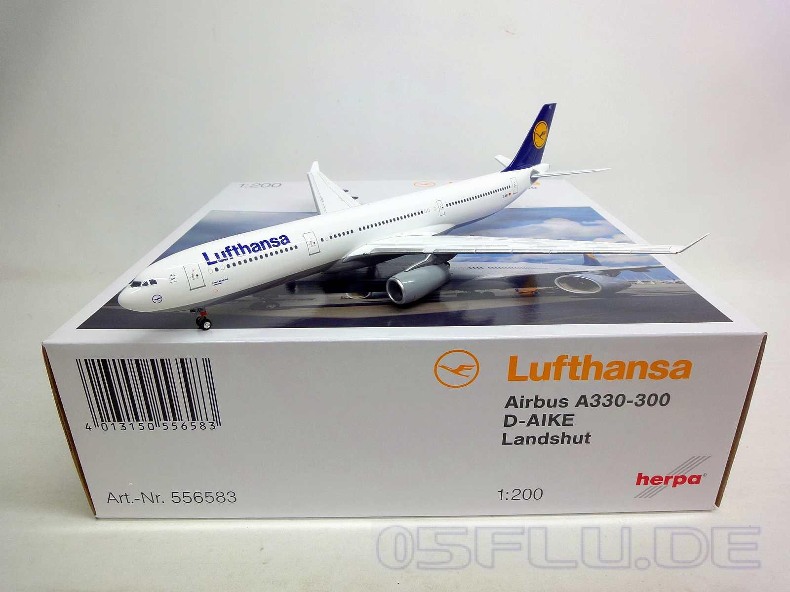 herpa 1 200 556583 lufthansa airbus a330 300 landshut neu ebay. Black Bedroom Furniture Sets. Home Design Ideas