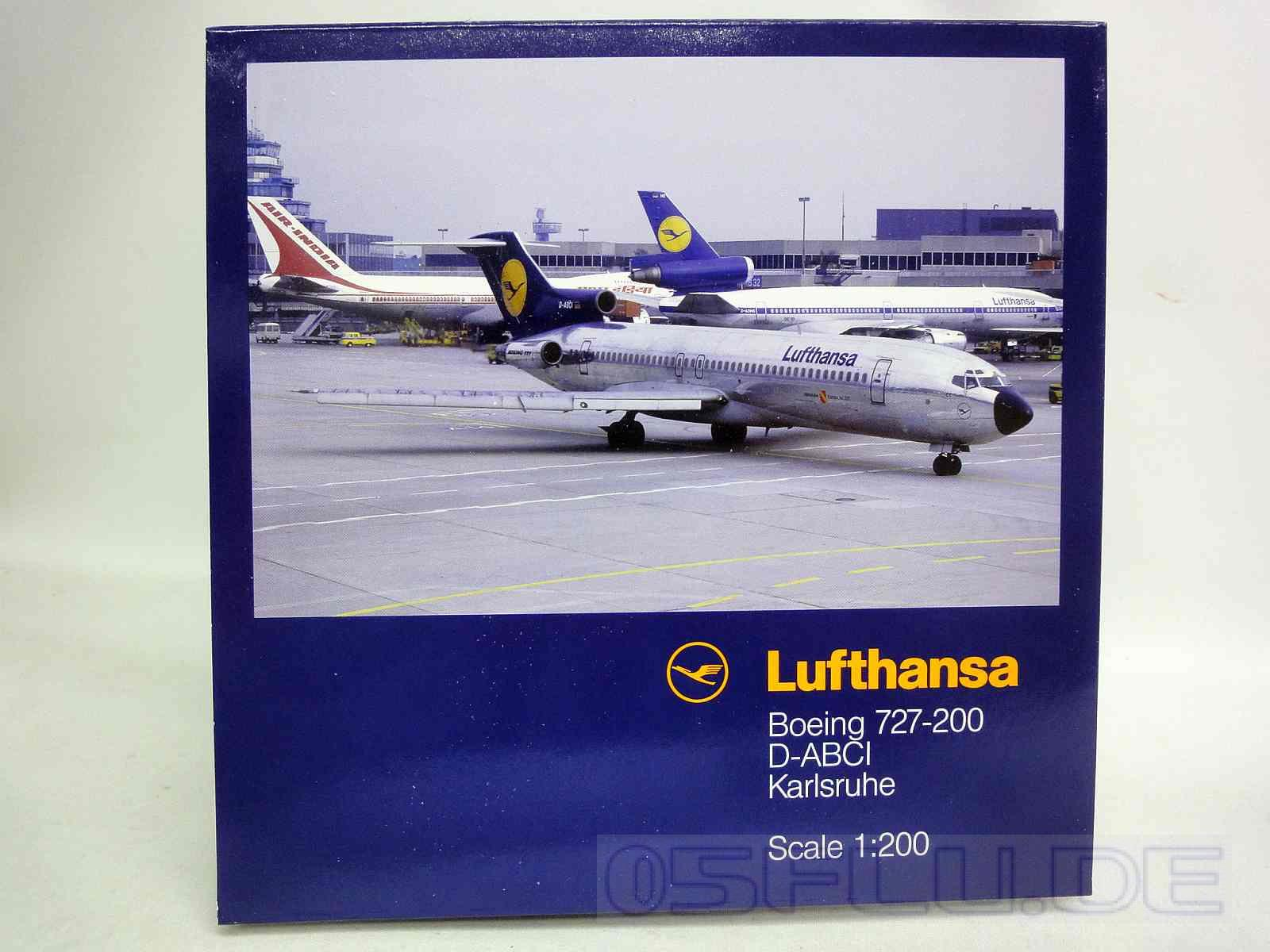 limox 1 200 lh29 boeing 727 200 lufthansa d abci karlsruhe neu ebay. Black Bedroom Furniture Sets. Home Design Ideas