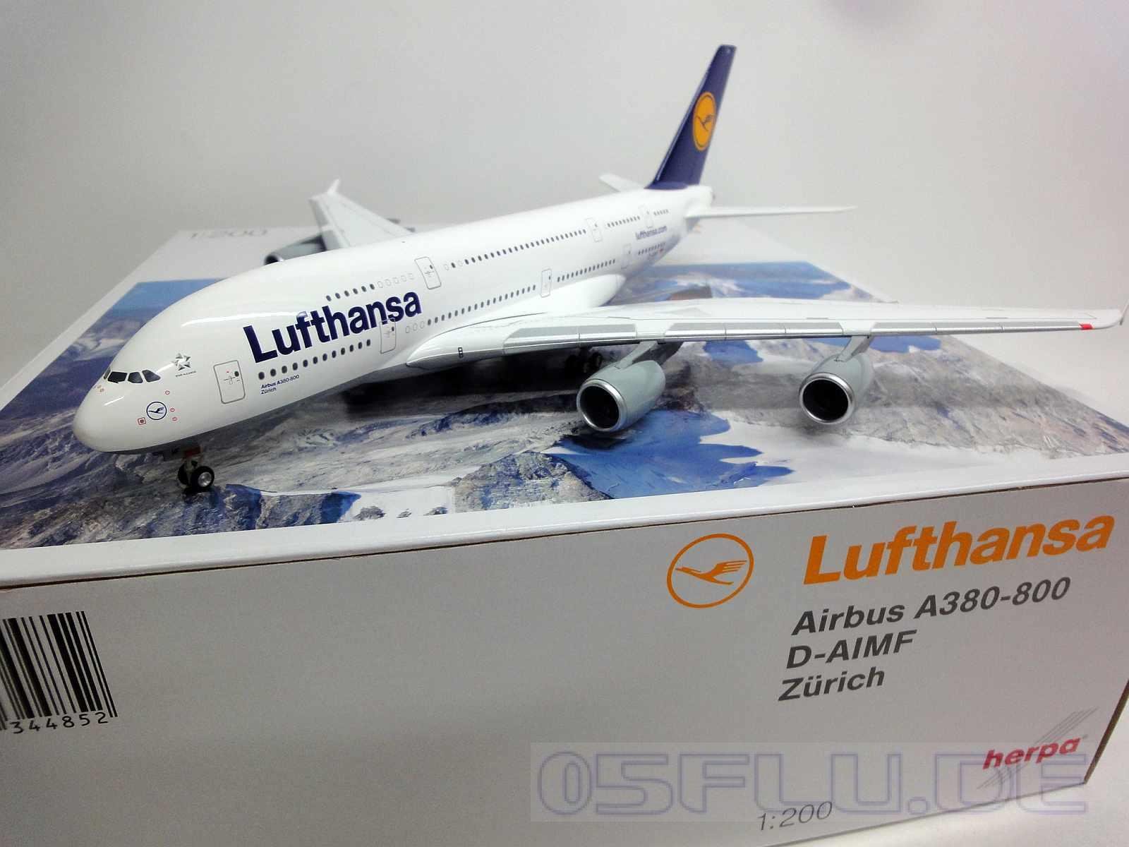herpa 1 200 550727 003 lufthansa airbus a380 800 reg d aimf z rich neu ebay. Black Bedroom Furniture Sets. Home Design Ideas