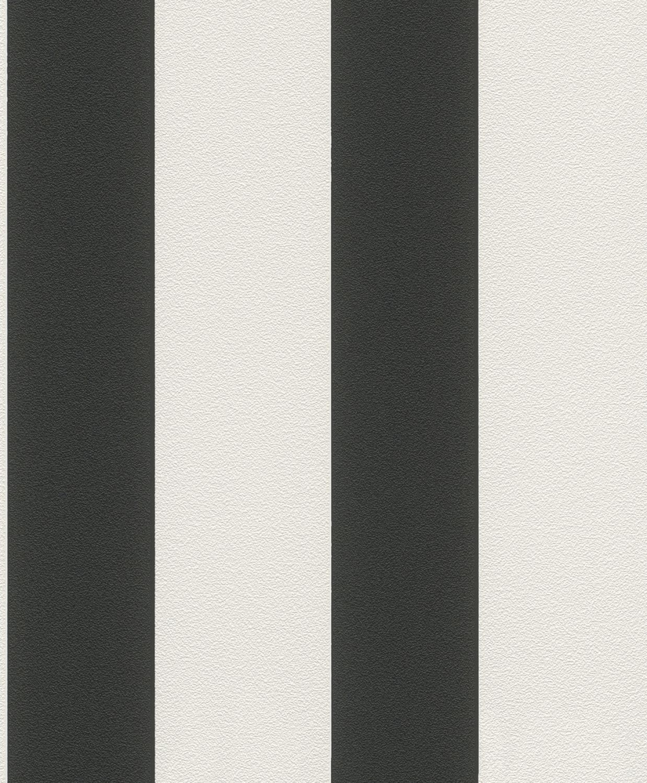 vlies tapete rasch prego 700275 streifen gestreift schwarz wei ebay. Black Bedroom Furniture Sets. Home Design Ideas