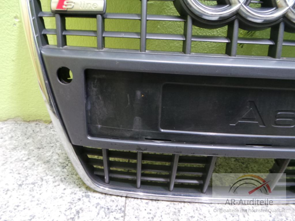 Audi a6 4f k hlergrill frontgrill schwarz chrom s line acc for Audi a6 4f interieur