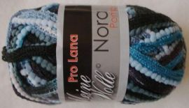 Pro Lana Nora Pompon col. Rüschengarn 100g Fb.113 black-bl. (55.00 ? per kg)