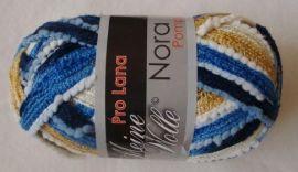 Pro Lana Nora Pompon color Rüschengarn 100 g Fb 107 blue-yellow ( 55.00 ? per kg)