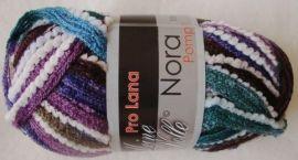 Pro Lana Nora Pompon color Rüschengarn 100 g Fb 111 purple ( 55.00 ? per kg)