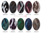Wool Prolana Rüschengarn NORA Lurex 100 g 126 dark brown color ( 30.00 Eur / kg)