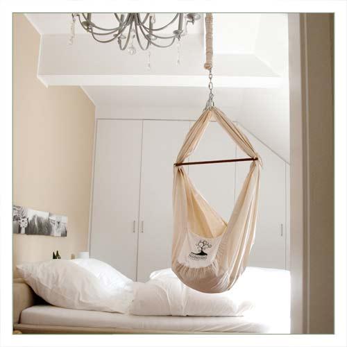 nonomo babywiege federwiege babyh ngematte ebay. Black Bedroom Furniture Sets. Home Design Ideas