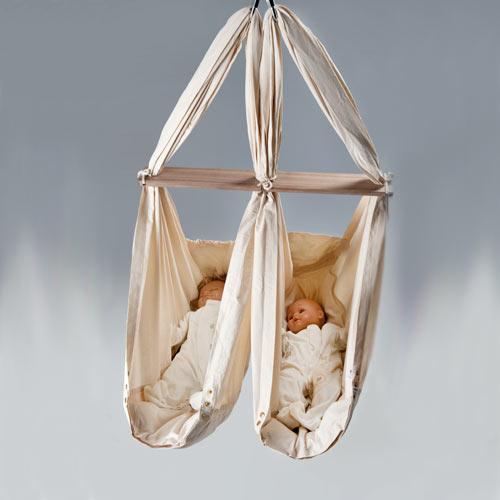 nonomo zwillings babywiege federwiege babyh ngematte ebay. Black Bedroom Furniture Sets. Home Design Ideas