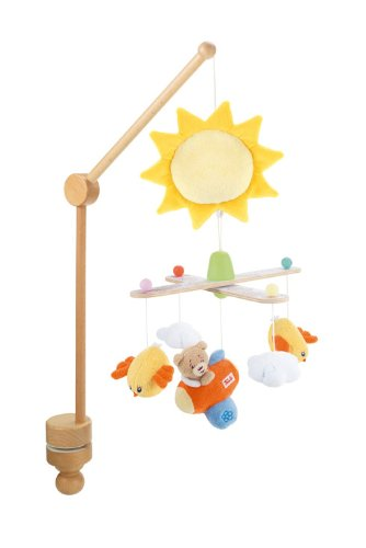baby musik mobile sonne halterung aus holz 30x30 cm trudi ebay. Black Bedroom Furniture Sets. Home Design Ideas