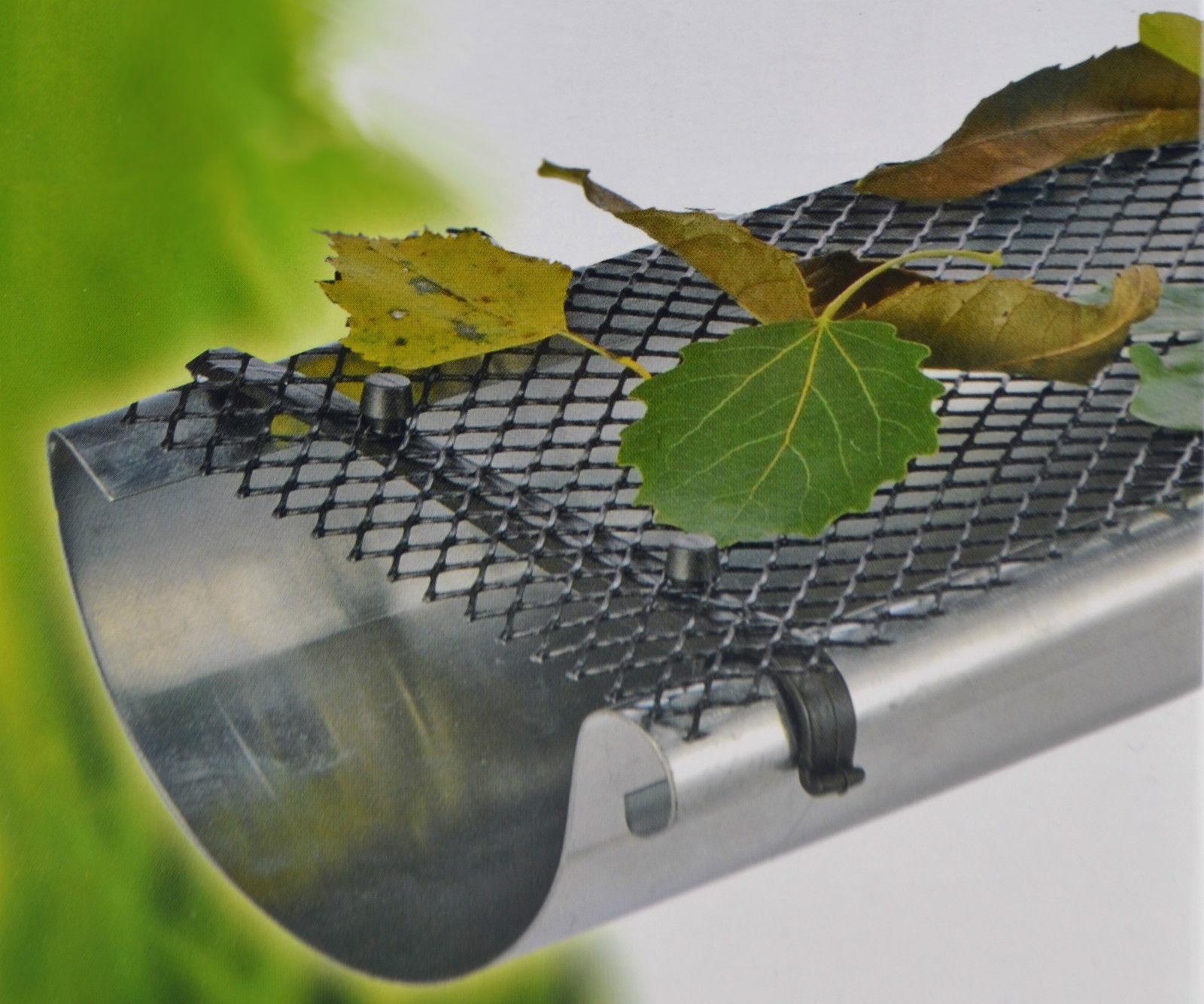 24m Dachrinnenschutz Laubschutz Gitter Dachrinne Laubfang Regenrinne Marderschutz