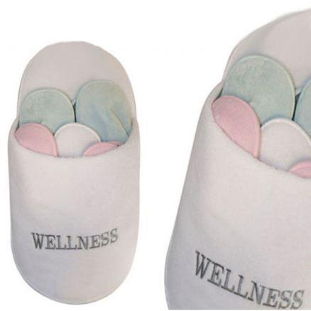 9 teilig wellness hausschuhe pantoffeln g stehausschuhe. Black Bedroom Furniture Sets. Home Design Ideas