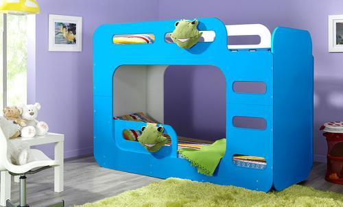 kinder etagenbett hochbett farbiges bett stockbett. Black Bedroom Furniture Sets. Home Design Ideas