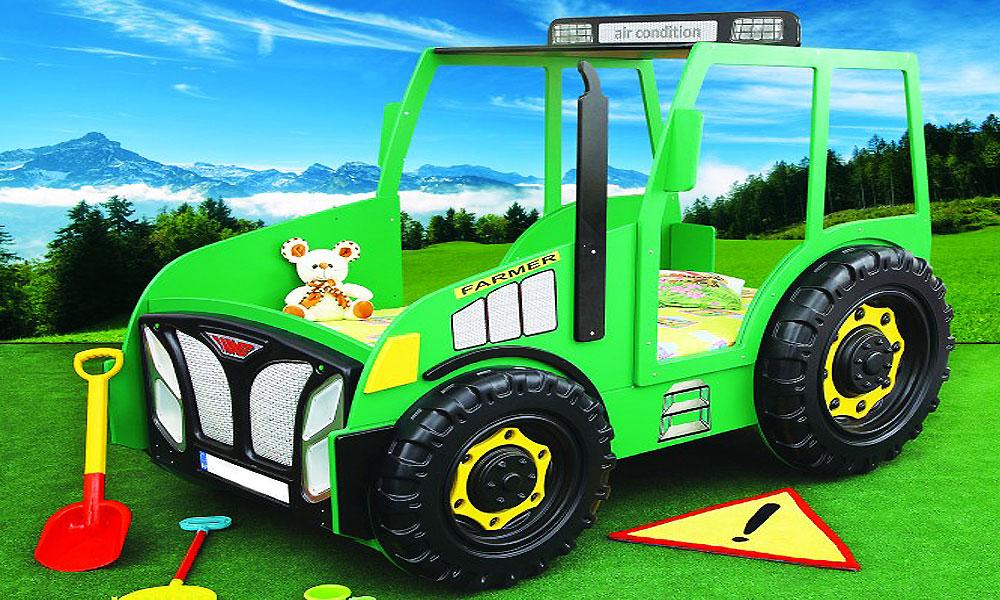 Kinderbett auto grün  Traktor Bett ~ Kreative Ideen für Ihr Zuhause-Design