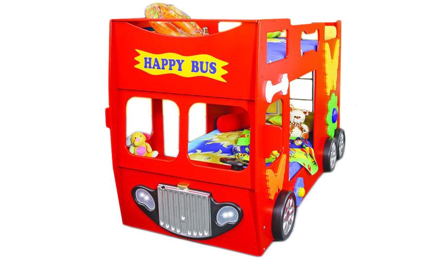 Etagenbett hochbett kinderbett bus rot kinderbett - Kinderbett bus ...