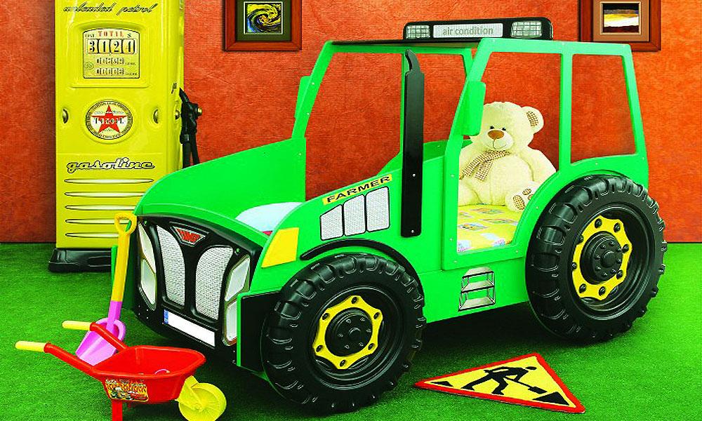Kinderbett junge traktor  Kinderbett Traktor Einzelbett Grün Autobett Bett Traktorbett | eBay