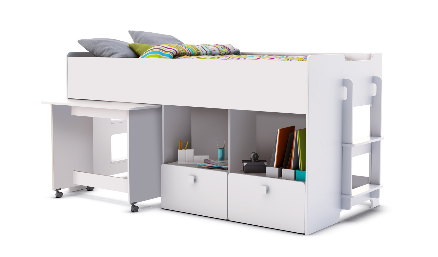 jugendbett kombibett hochbett schreibtisch bett kinderbett ebay. Black Bedroom Furniture Sets. Home Design Ideas
