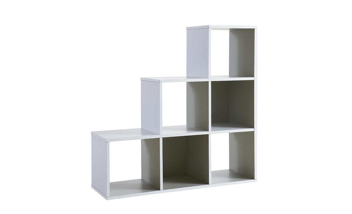 stufenregal weiss regal treppenregal wohnzimmerregal b cherregal ebay. Black Bedroom Furniture Sets. Home Design Ideas