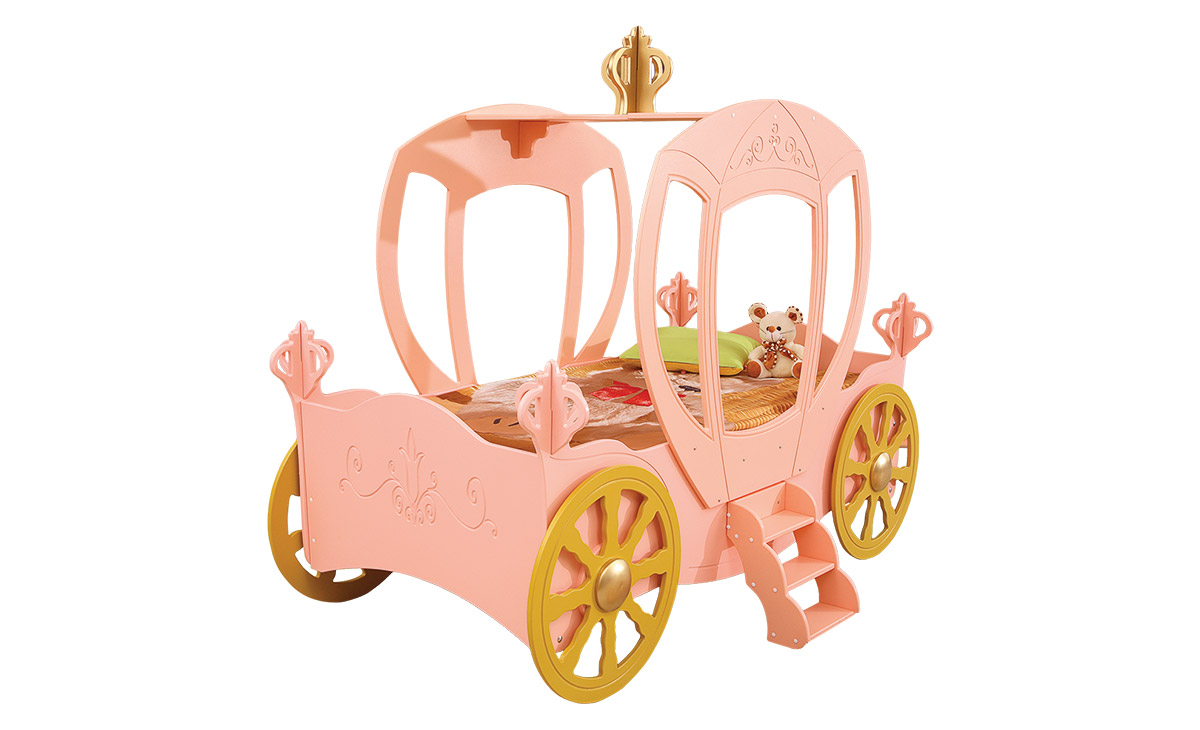 kinderbett prinzessin jugendbett spielbett bett kutsche pink ebay. Black Bedroom Furniture Sets. Home Design Ideas