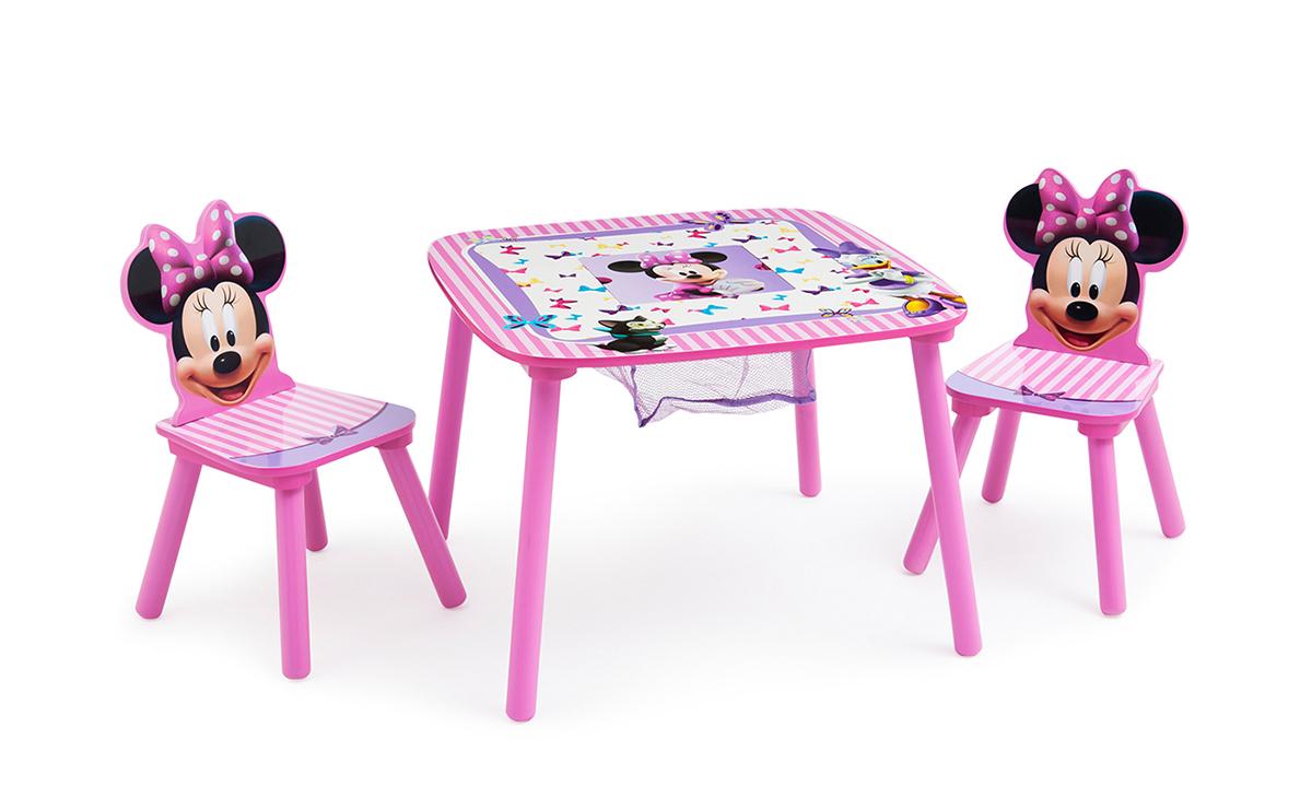 kindertisch sitzgruppe minni maus tisch st hle disney kinderm bel ebay. Black Bedroom Furniture Sets. Home Design Ideas