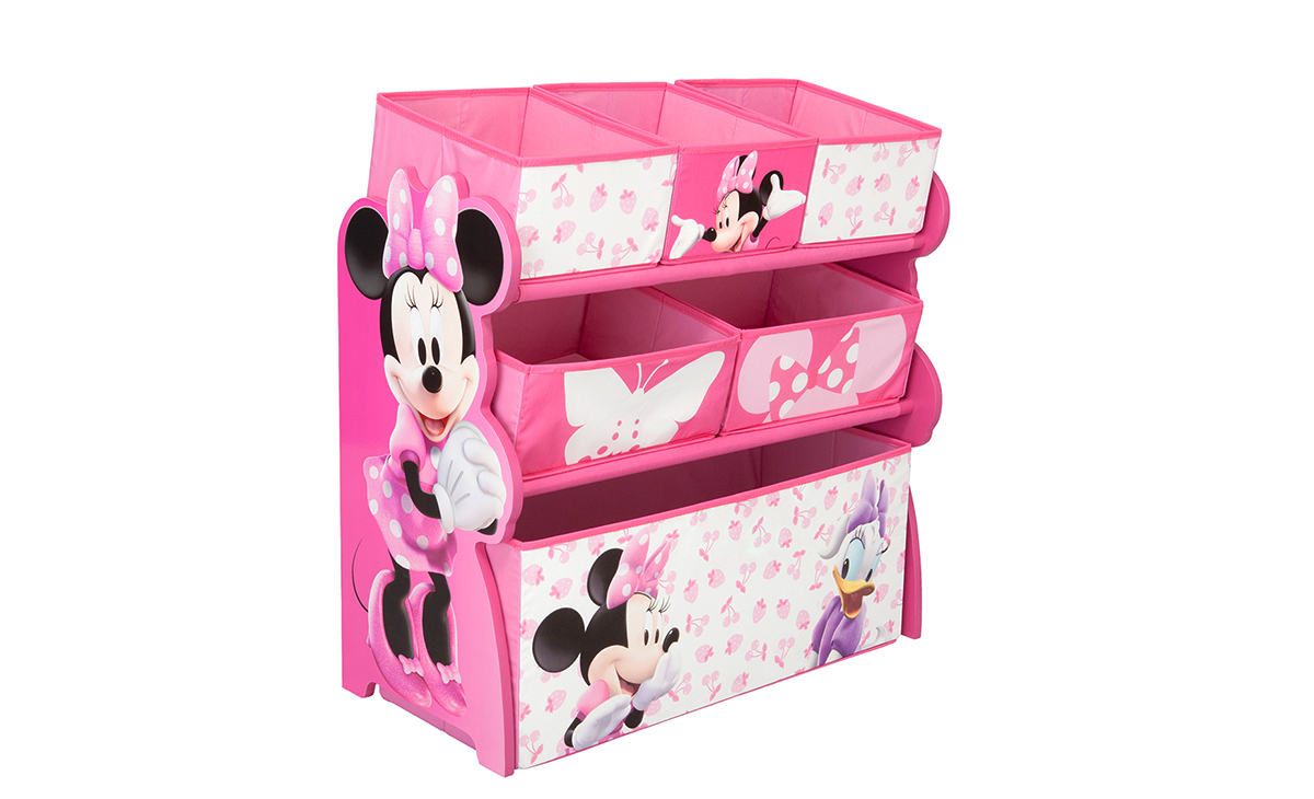kinderregal minnie mouse spielzeugkiste spielzeugbox regal kinderm bel. Black Bedroom Furniture Sets. Home Design Ideas