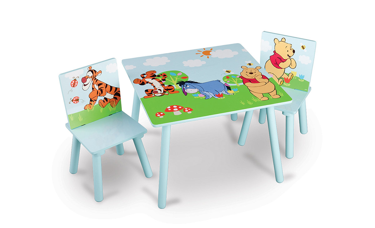 winnie pooh spieltisch kinderst hle tisch kinder kleinkinderm bel tischset ebay. Black Bedroom Furniture Sets. Home Design Ideas
