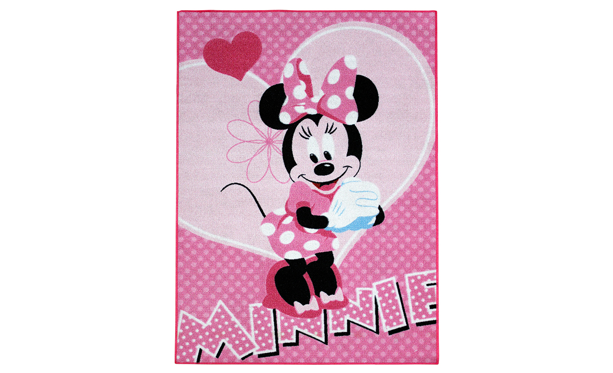 kinder teppich minnie maus herzen teppich kinder spielteppich pink. Black Bedroom Furniture Sets. Home Design Ideas