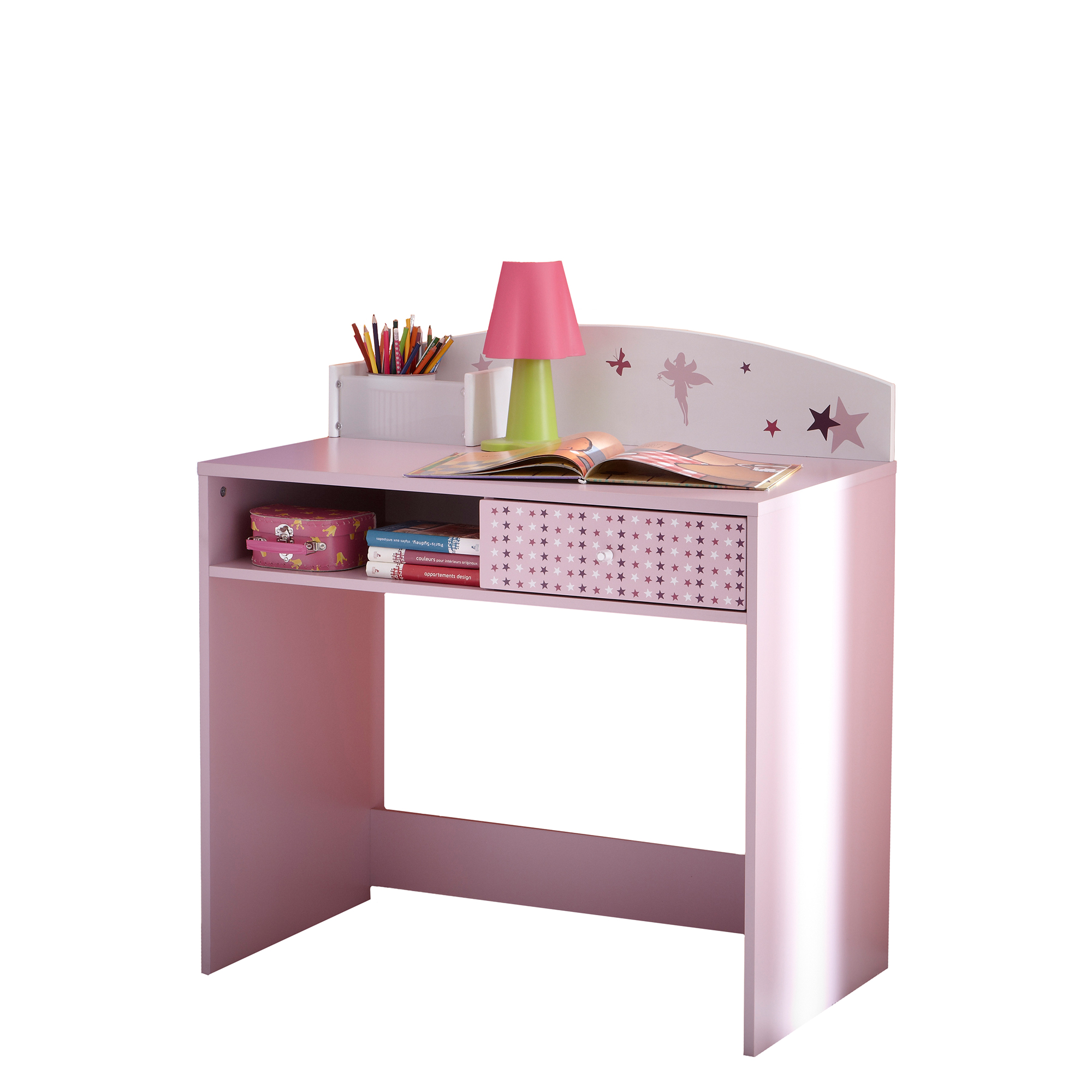 schreibtisch prinzessin kinderschreibtisch tisch m dchen kinderzimmertisch rosa ebay. Black Bedroom Furniture Sets. Home Design Ideas