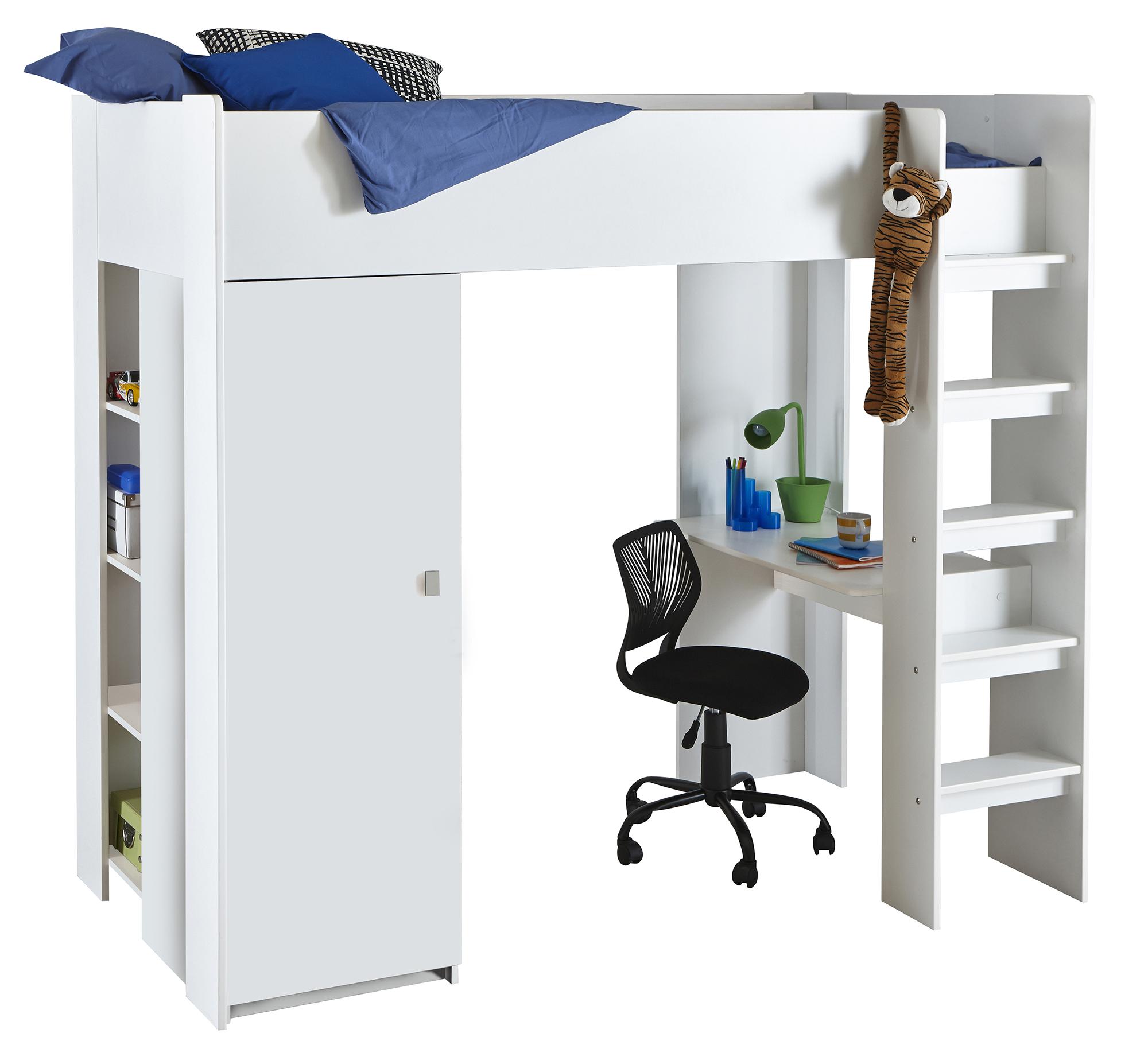 jugendbett hochbett kinder bett kinderhochbett mit. Black Bedroom Furniture Sets. Home Design Ideas