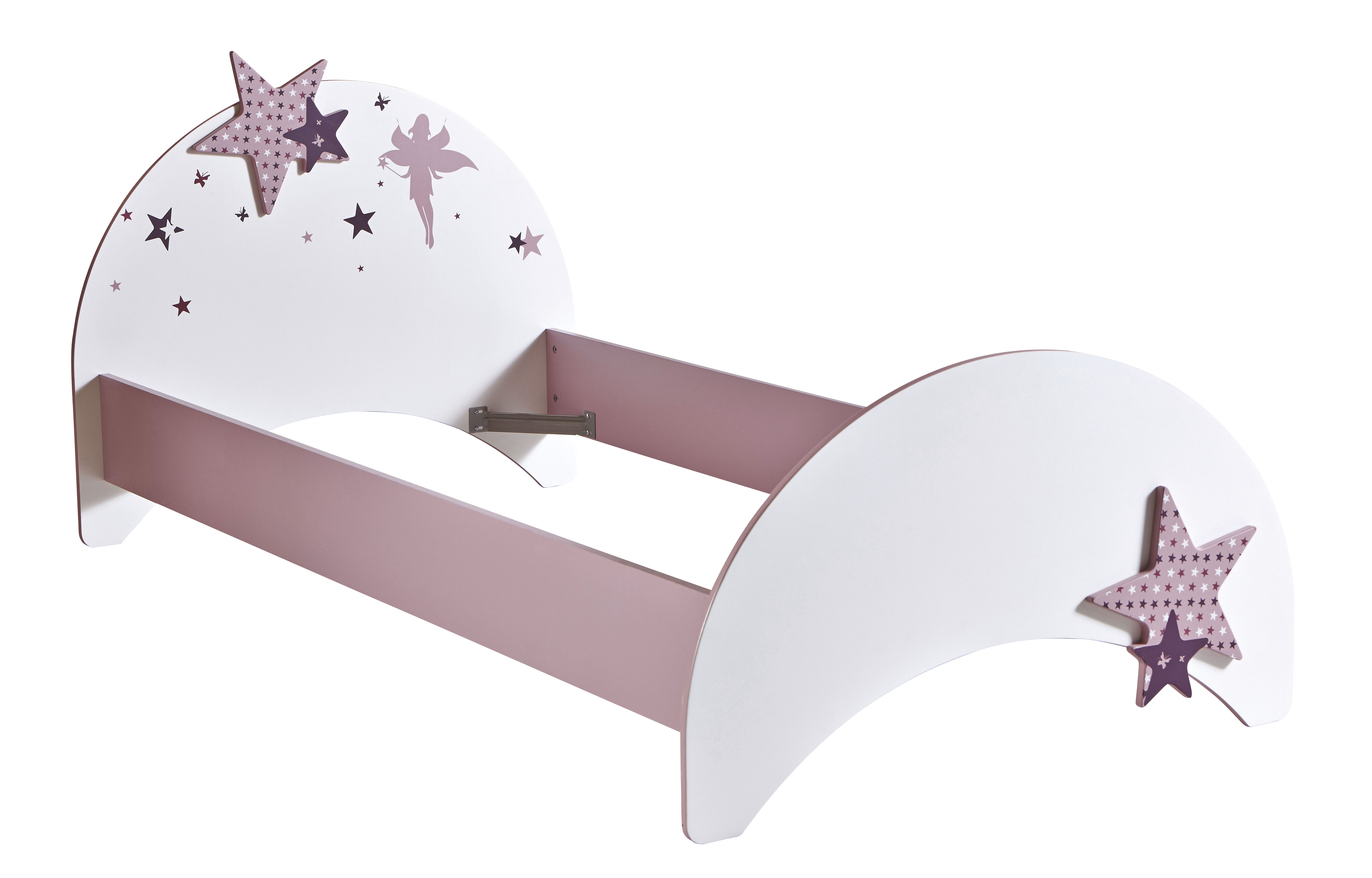 kinderbett m dchenbett jugendbett rosa bett prinzessin feen 90x200 cm juniorbett ebay. Black Bedroom Furniture Sets. Home Design Ideas