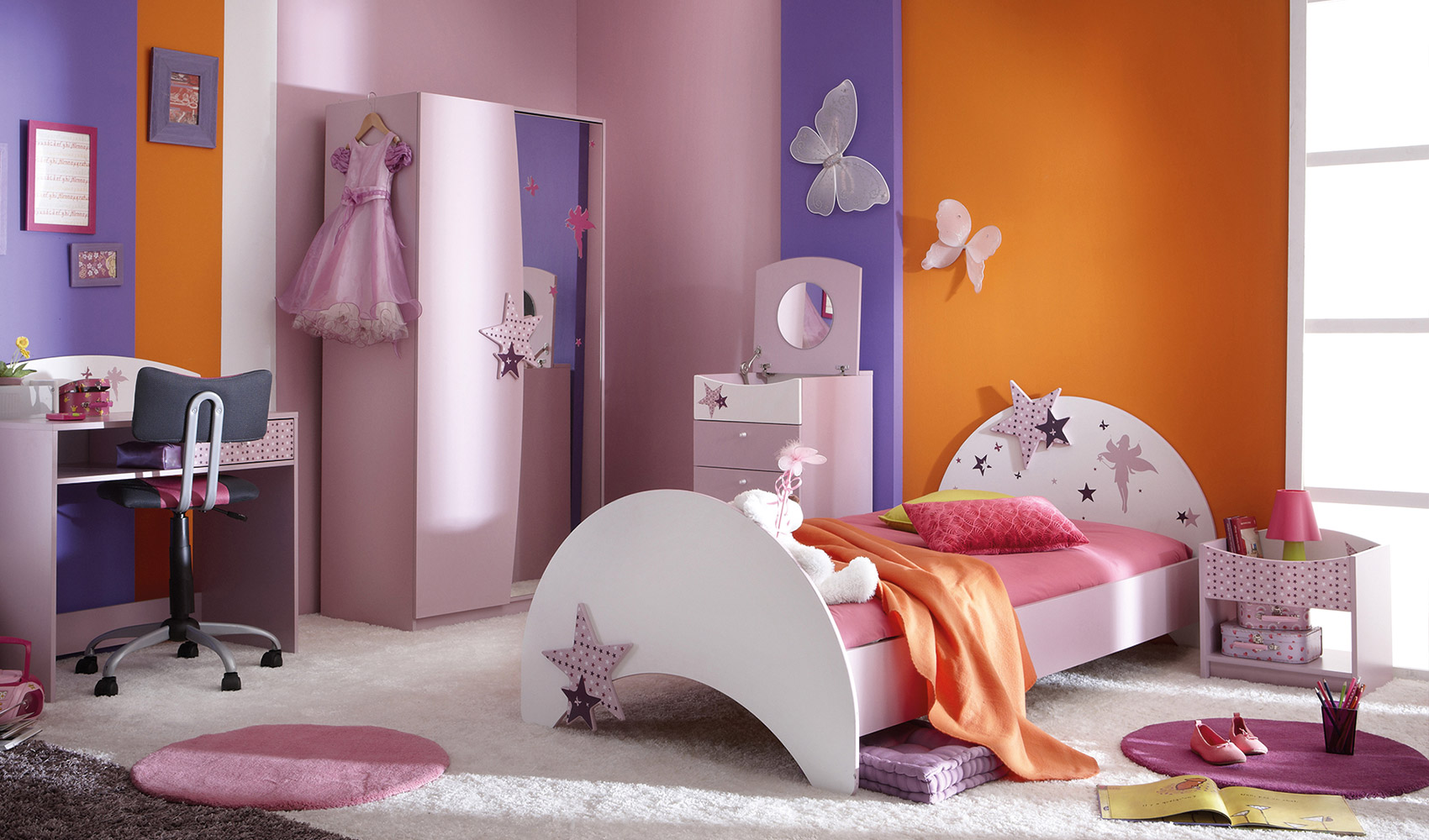 kinderbett m dchenbett jugendbett rosa bett prinzessin. Black Bedroom Furniture Sets. Home Design Ideas