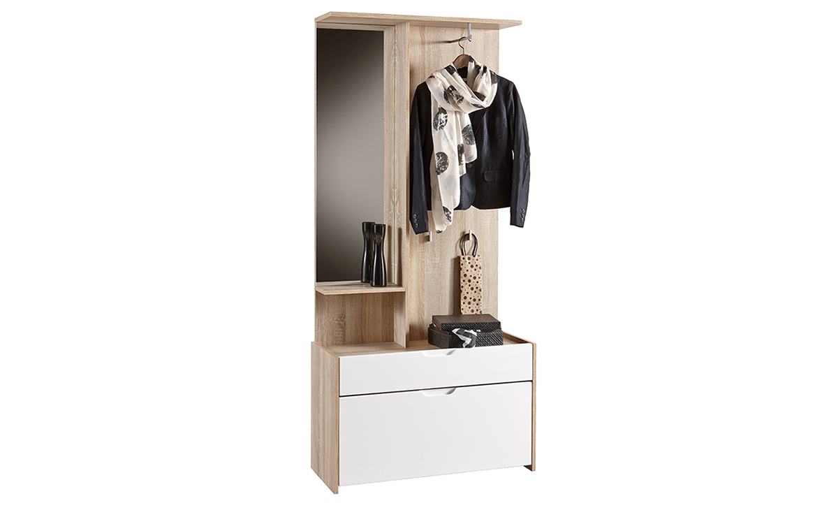 garderobe kompaktgarderobe schuhschrank spiegel flur m bel. Black Bedroom Furniture Sets. Home Design Ideas