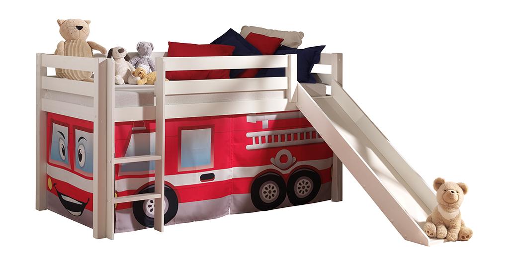 Hochbett Feuerwehrbett Jugendbett Kinderzimmer Bett Spielbett ...