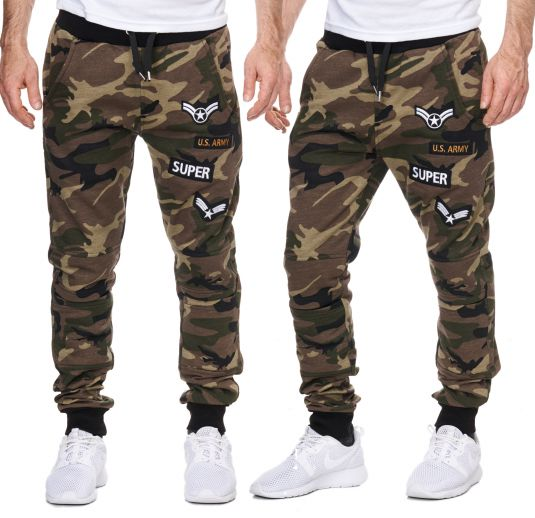 herren trainingshose armee army camouflage jogginghose damen sporthose fitness ebay. Black Bedroom Furniture Sets. Home Design Ideas