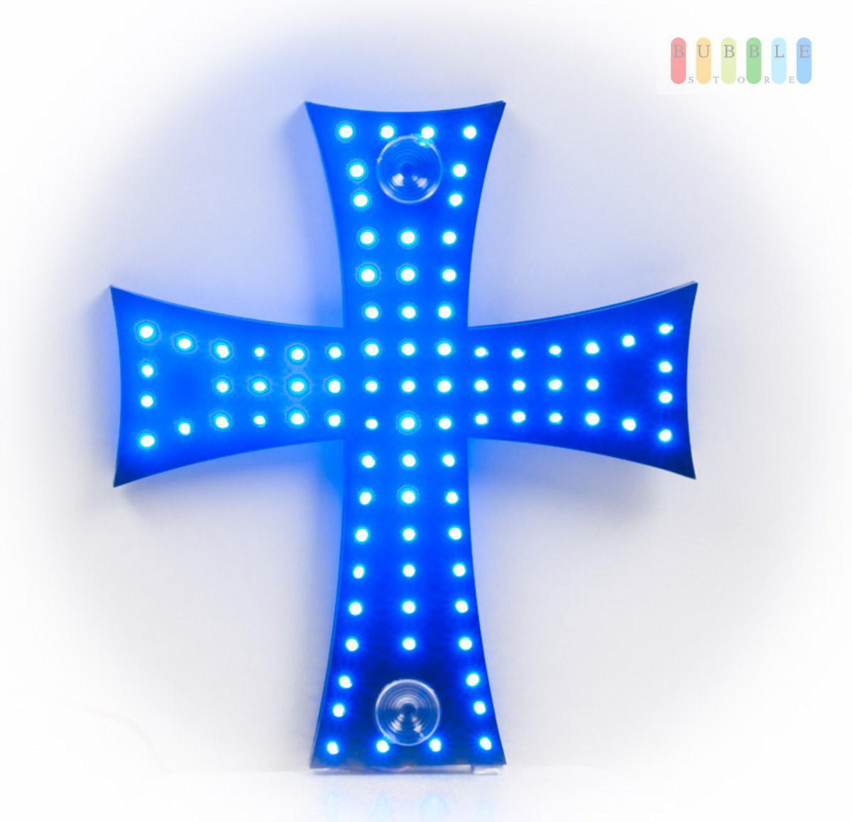 88 led kreuz leuchte beleuchtung lkw trucker fahrerkabine innenleuchte blau 24v ebay. Black Bedroom Furniture Sets. Home Design Ideas
