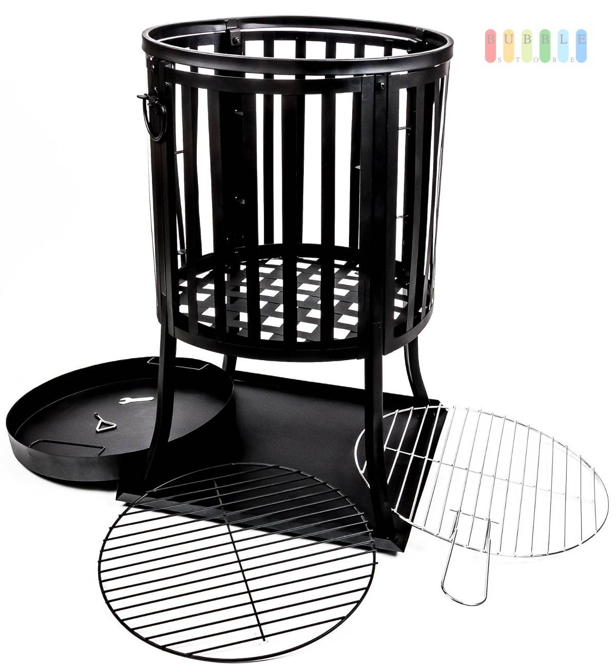 feuerkorb terrassenkamin gartenofen gartenfeuer feuerschale mit grill grillrost ebay. Black Bedroom Furniture Sets. Home Design Ideas