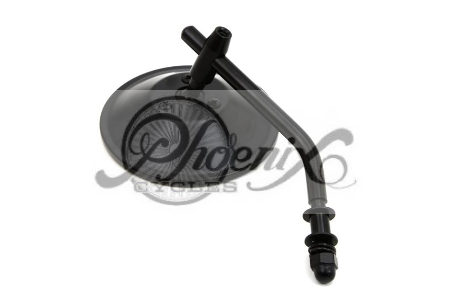 Custom miroir rond noir harley dyna sportster softail for Miroir rond metal noir