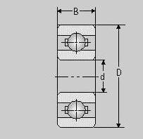 Miniatur Kugellager SMR84 2TS, 4x8x3, SMR 84 2TS