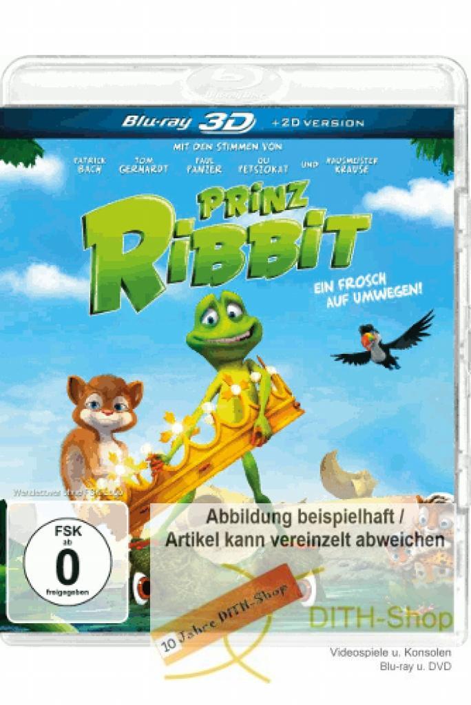 Prinz ribbit ein frosch auf umwegen 3d blu ray video 4013549064781 ebay - Frosch auf englisch ...