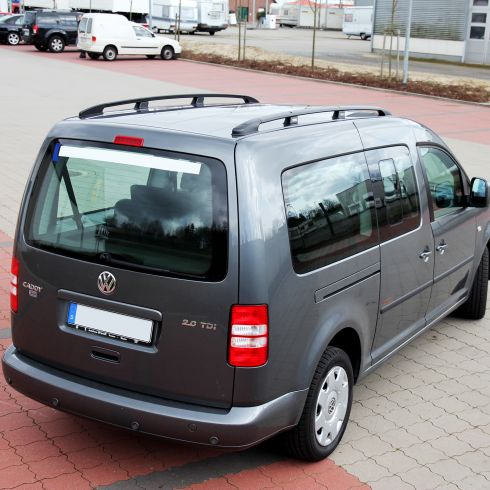dachreling f r vw caddy maxi ab bj 2007 in schwarz mit abe. Black Bedroom Furniture Sets. Home Design Ideas