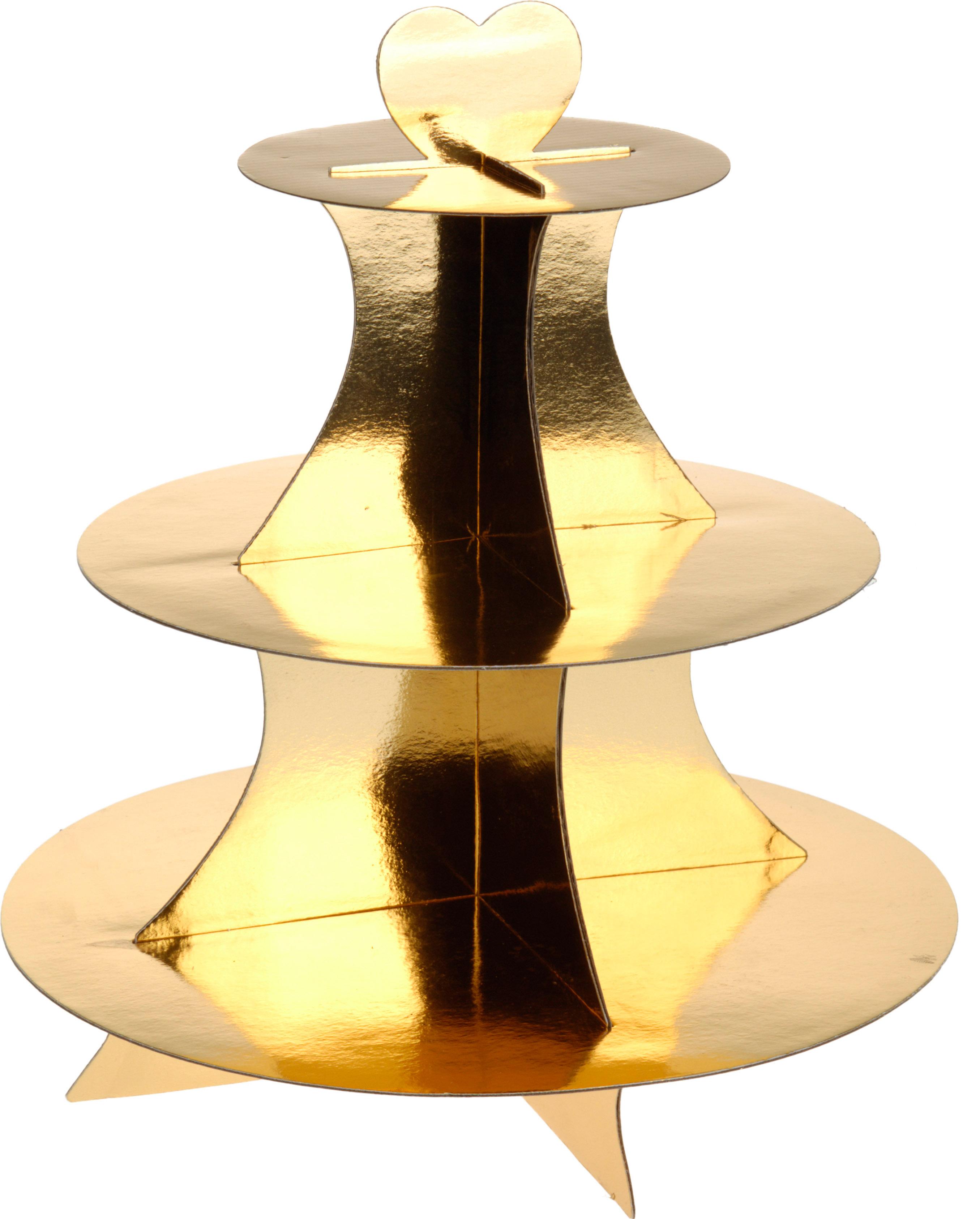 3 st ckige etagere gold geb ckst nder cupcake st nder muffin. Black Bedroom Furniture Sets. Home Design Ideas