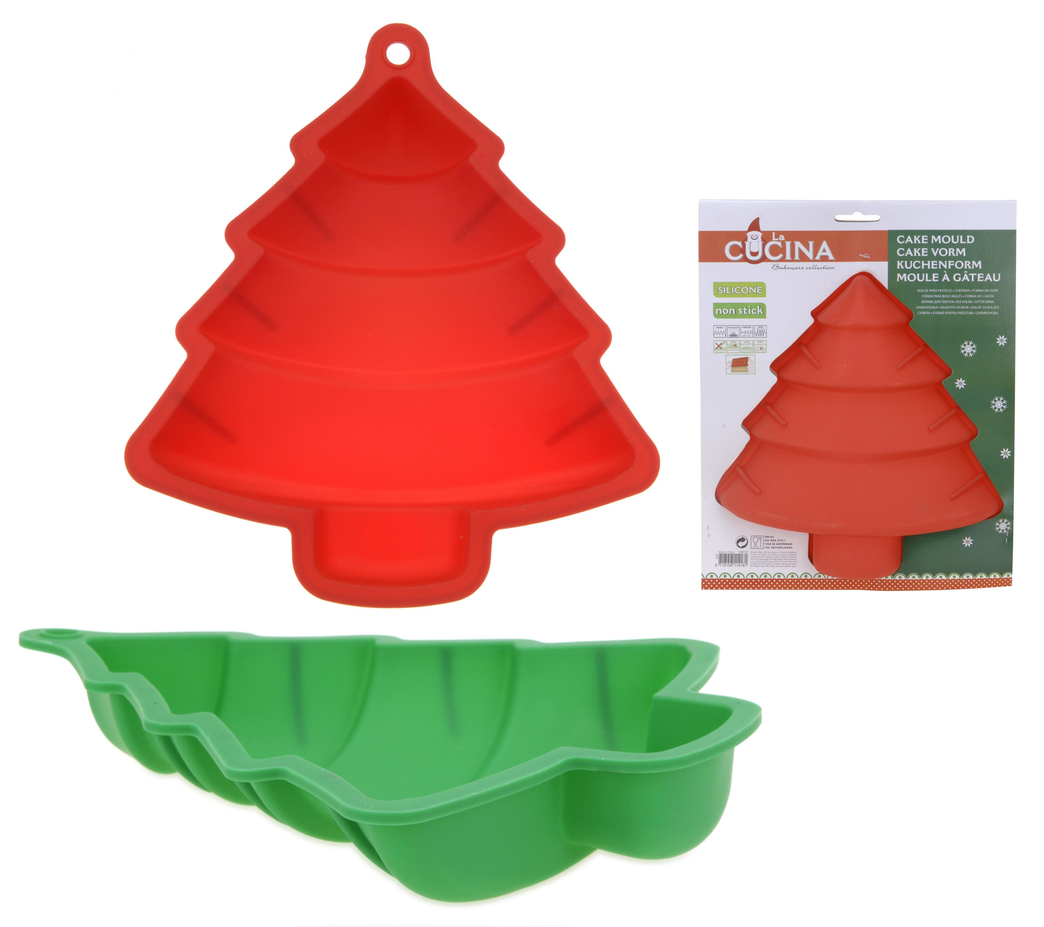 tannenbaum backform silikon rot oder gr n backen weihnachtsgeb ck. Black Bedroom Furniture Sets. Home Design Ideas