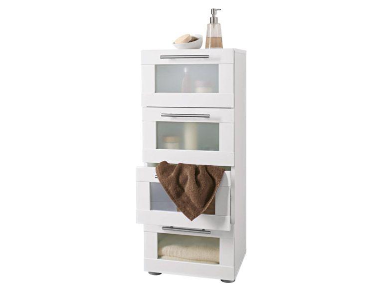 Badezimmer kommode  Miomare® Badezimmer-Kommode, Weiß - B-Ware / Vorführmodell* | eBay