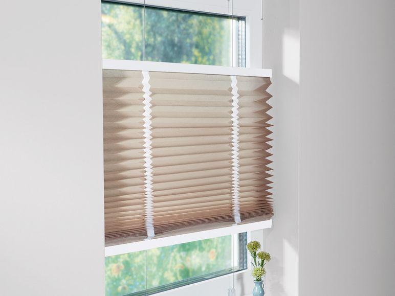 meradiso plissee rollo 90 x 130 cm beige wei b nder b ware ausstellungsst ck ebay. Black Bedroom Furniture Sets. Home Design Ideas