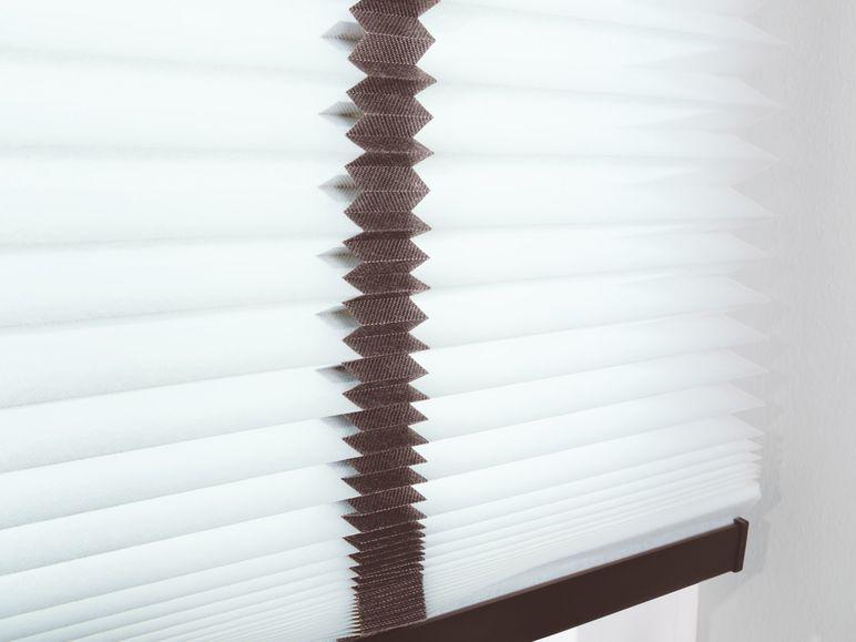 meradiso plissee rollo 90 x 130cm wei braune b nder b ware ausstellungsst ck ebay. Black Bedroom Furniture Sets. Home Design Ideas