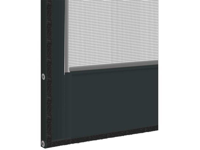 powerfix alu insektenschutz t r 100 x 210 cm anthrazit ausstellungsst ck ebay. Black Bedroom Furniture Sets. Home Design Ideas