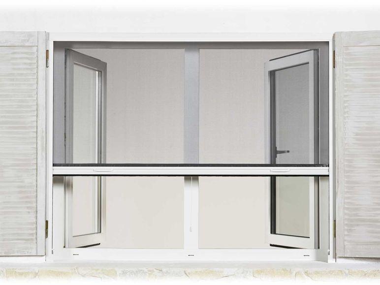 powerfix alu insektenschutz fensterrollo 130 x 160 cm wei vorf hrmodell ebay. Black Bedroom Furniture Sets. Home Design Ideas