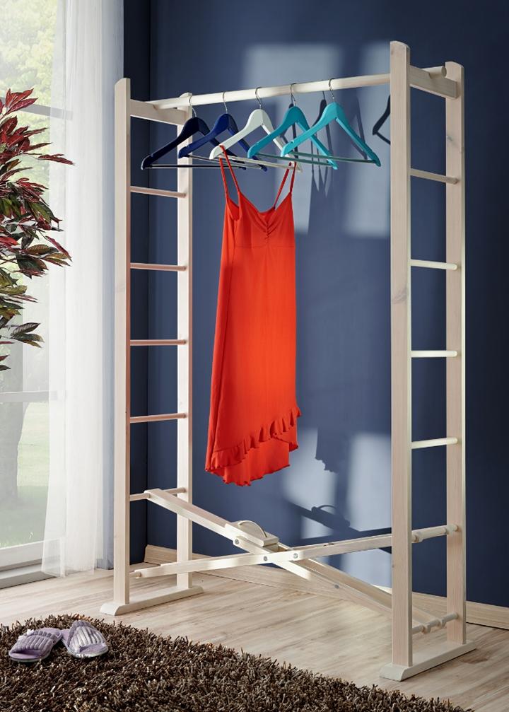 Kleiderständer Holz Klappbar ~ Garderobe klappbar Buche Massivholz 164 x 105 x 43 cm Kleiderständer