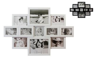 xl bilderrahmen fotogalerie fotocollage 3d optik f r 11 bilder ebay. Black Bedroom Furniture Sets. Home Design Ideas