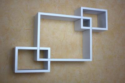 Wandregal design  Wandregal Würfel Cube Design Regal MDF lackiert